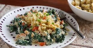 cuisine casher definition cosmic cashew kale and chickpeas with confetti quinoa recipe from
