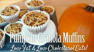 pumpkin granola muffins easy heart healthy low fat recipes