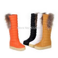 s boots with fur wholesale rabbit fur knee wedge bootswomen
