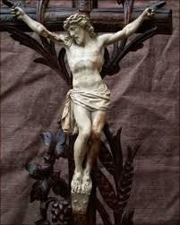 large crucifix antique large black forest altar crucifix 1860