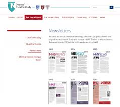 hcc launches nurses u0027 health study website on 40th anniversary