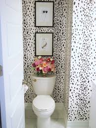 Fabulous Wallpaper In Bathroom With We Just Love How Suburban Faux Pas Used Spoonflower Wallpaper To