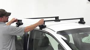 installation of a thule traverse roof rack on a 2011 subaru legacy
