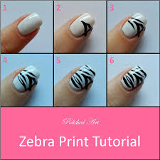 zebra print step by step nail art tutorial style pinterest