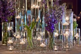 flowers candles and glass