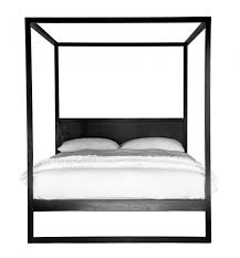 Black Four Poster Bed Frame Strand 4 Poster Bed Black Oak Interiors
