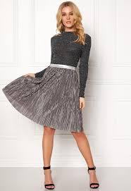 rut circle rut circle pleat skirt silver bubbleroom