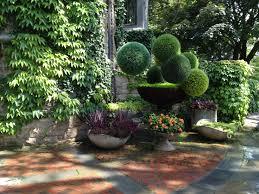 excellent modern backyard landscape design with green plant