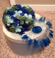 Vintage Velvet Flowers - lot 5 vintage ladies estate sale hats feather velvet flowers