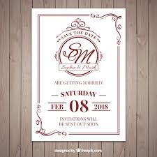 wedding invitations freepik classic style wedding invitation vector free