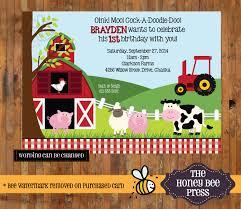 Where To Buy Birthday Invitation Cards Farm Animal Birthday Invitation Barnyard Birthday Invite