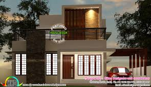 budget house with simple and elegant contemporary design kerala