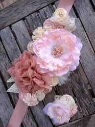 baby shower sash ideas pink blush u0026 ivory rosette wedding or maternity sash vintage