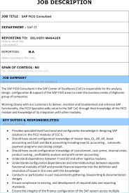 Sap Program Manager Resume Support Project Manager Resume Name