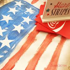 4th of july kids craft american flag table runner
