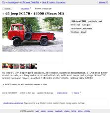 Jeep For Sale Craigslist This 1965 Jeep Fc170 Is Asking 8 000