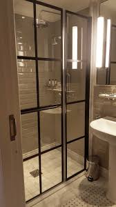 Shower Door Parts Uk by Designer Black Grid Shower Screens From Room H2o