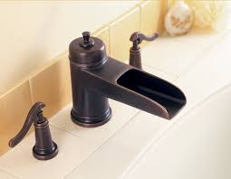 Waterfall Faucet Bathroom Oil Rubbed Bronze Waterfall Bathroom Sink Faucet Wall Mount With