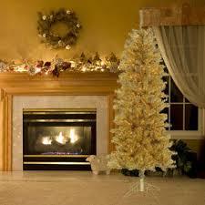 trim a home 6 5 u0027 pre lit champagne gold pencil tree