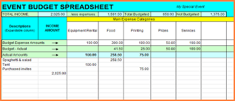 10 event budget spreadsheet template excel spreadsheets group