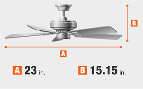 brette 23 in led indoor outdoor brushed nickel ceiling fan home decorators collection brette 23 in led indoor outdoor brushed