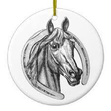 horseshoe ornaments silver horseshoe ornaments keepsake ornaments zazzle