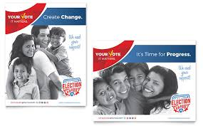 election brochure template design