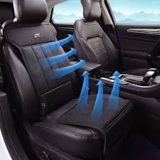 Auto Fan Auto Fan Suppliers by Aliexpress Com Buy Leather Summer Car Seat Cushion Air