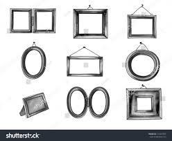 Color Palette Gray Graphite Frames Set Hand Drawn Picture Stock Vector 121647937