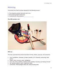 cosmetics store business plan template business plan templates
