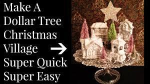 dollar tree christmas village diy youtube