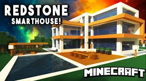 epic redstone smart house modern mansion w a personal tank