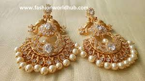 beautiful gold earrings images top 5 beautiful one gram gold earrings designs 2017