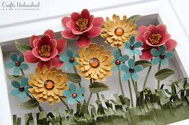 decoration flower shadow box crafts unleashed