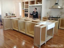 building a kitchen island with cabinets kitchen engaging diy kitchen island with seating 1449620545377