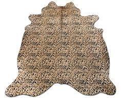 Leopard Cowhide Rug Brown And White Cowhide Rug Size 9 U0027 X 7 4 U0027 Ft Giant Cowhide