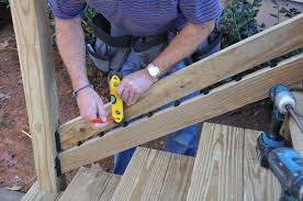 Install Banister Decks Com Deck Stair Railings