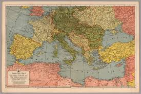 Historical Maps Of Europe by Invasion Study Map Of Southern Europe And Mediterranean David