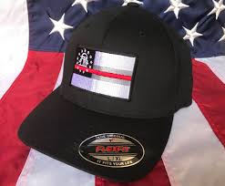 State Flag Georgia Thin Red Line Ga State Flag Fire Fighter Embroidered Cap