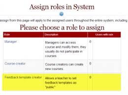 feedback template creator moodledocs