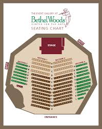 seating charts bethel woods center for the arts