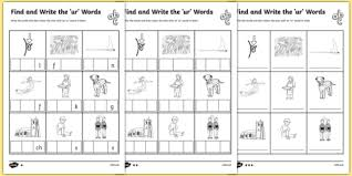 find and write the ur words differentiated activity sheet pack