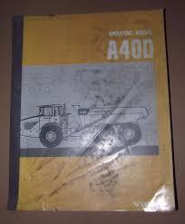volvo articulated hauler operator u0027s manual a40d cea services