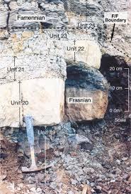 the frasnian u2013famennian mid late devonian boundary in the type