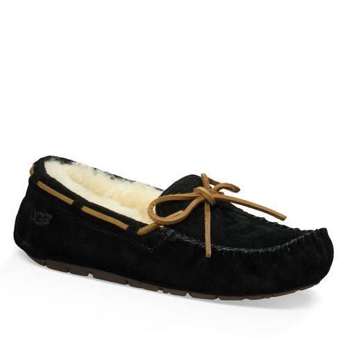 UGG Australia Dakota Black Moccasin Slippers 5612-BLK