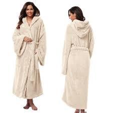 robe de chambre avec capuchon de femmes à capuchon épais robes doux corail polaire chaud