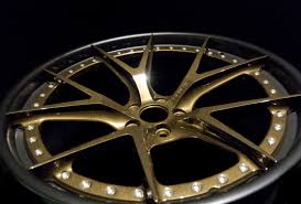 lexus wheels powder coated prismatic powders bronze chrome with sterling black on this wheel