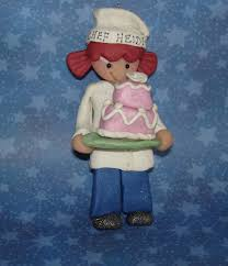 chef hat ornament apron decorated tier wedding cake