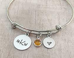 monogram bracelets monogrammed bracelet etsy
