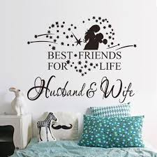 popular couples walls buy cheap couples walls lots from china newest 2017 new couple wall sticker husband and wife vinyl decal bedroom wall art decor sticker